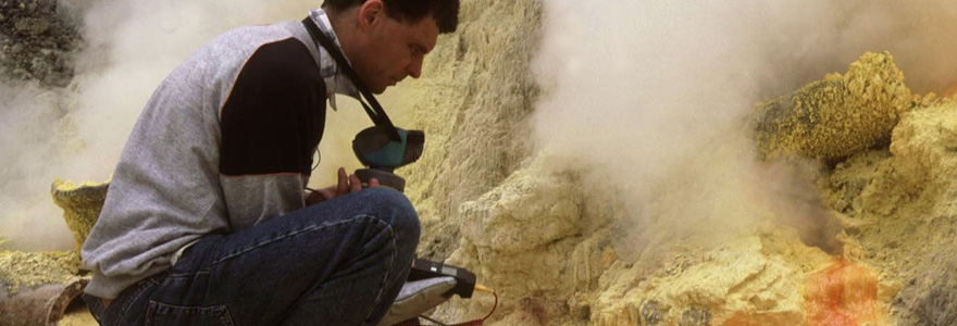 le travail du volcanologue